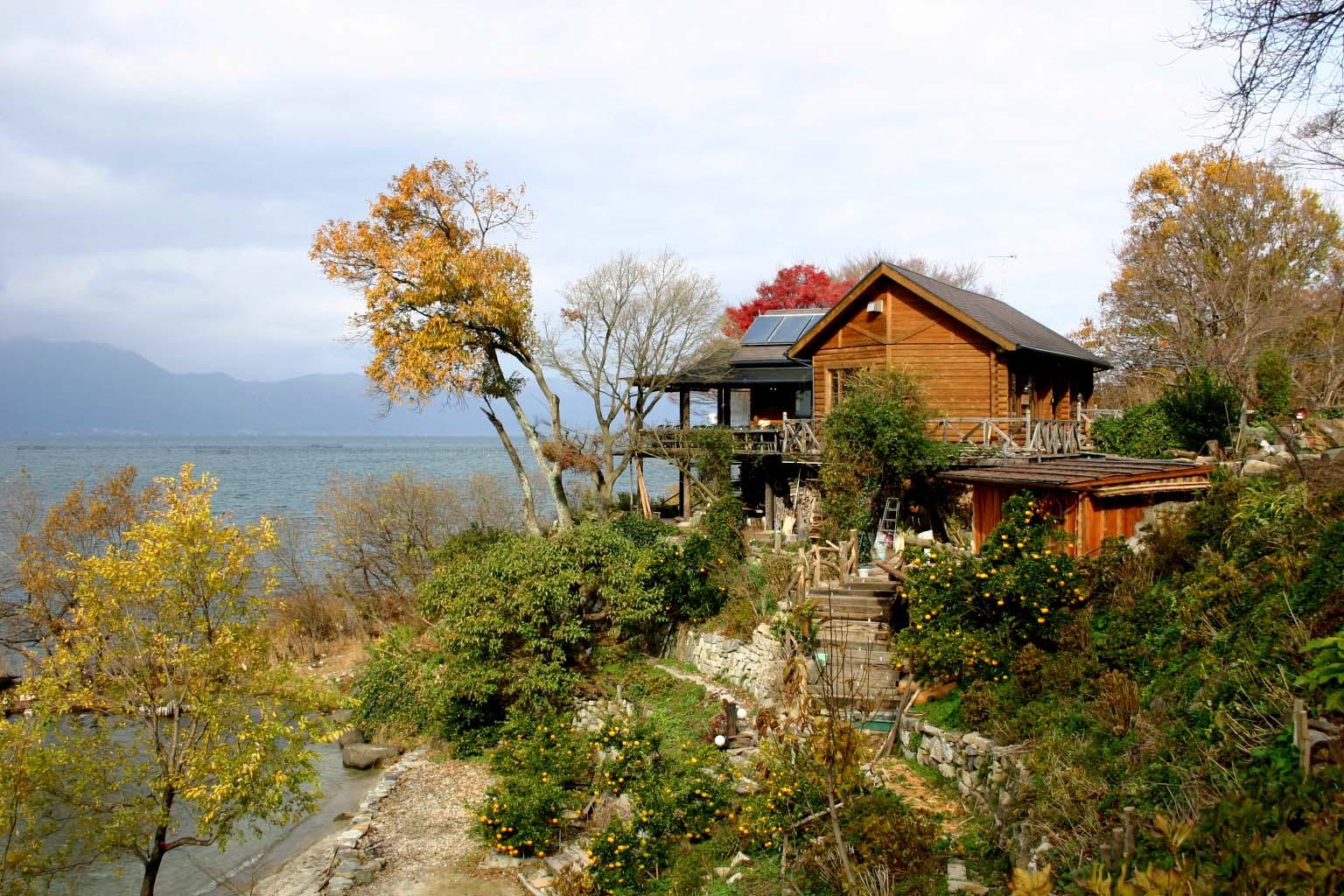 20琵琶湖畔のレストラン