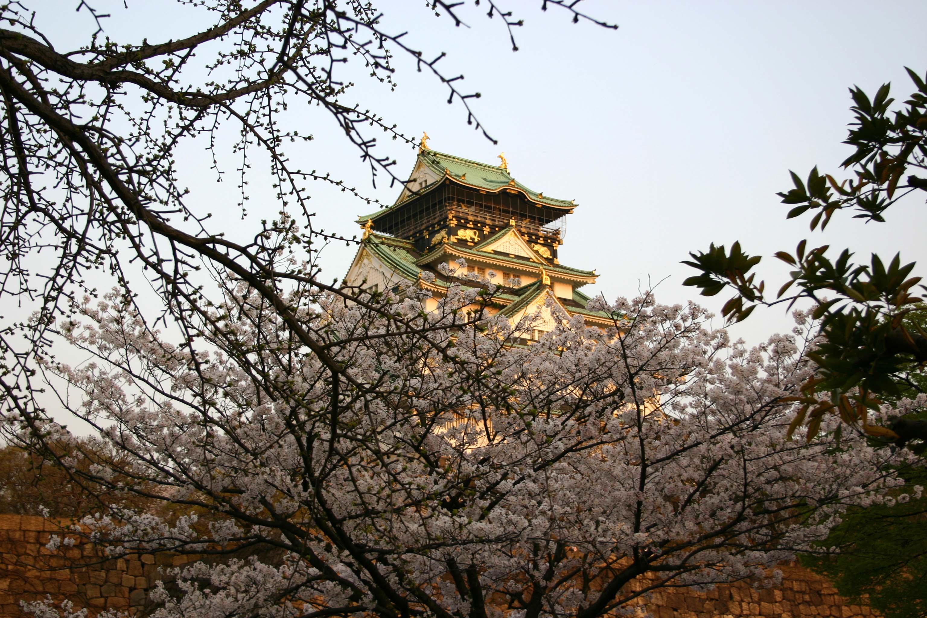 26夕日に映える大阪城